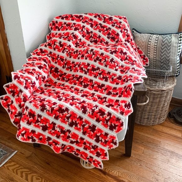 Vintage Knit Afghan Blanket